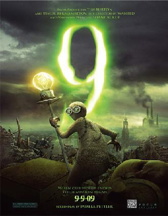 """""""9"""" film d'animazione monito per la società."""