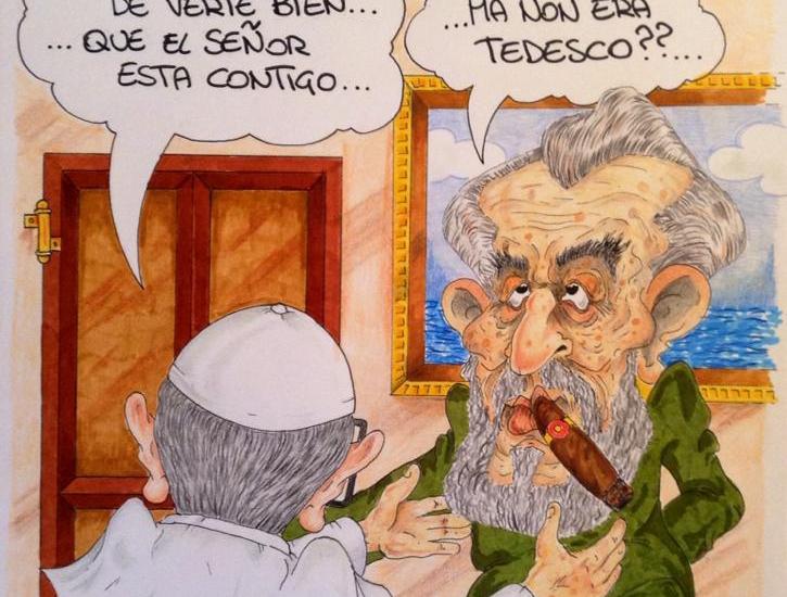 Fidel Castro Papa by Miky Ghironzi
