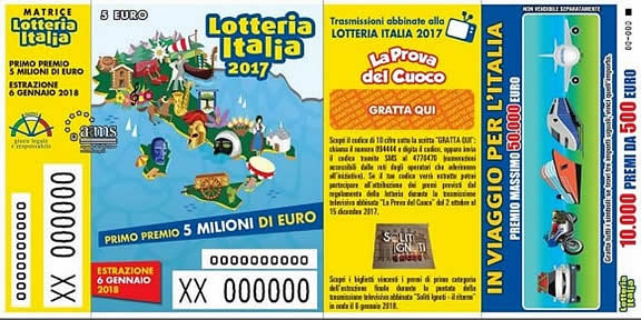 LOTTERIA ITALIA I PREMI DA 20.000