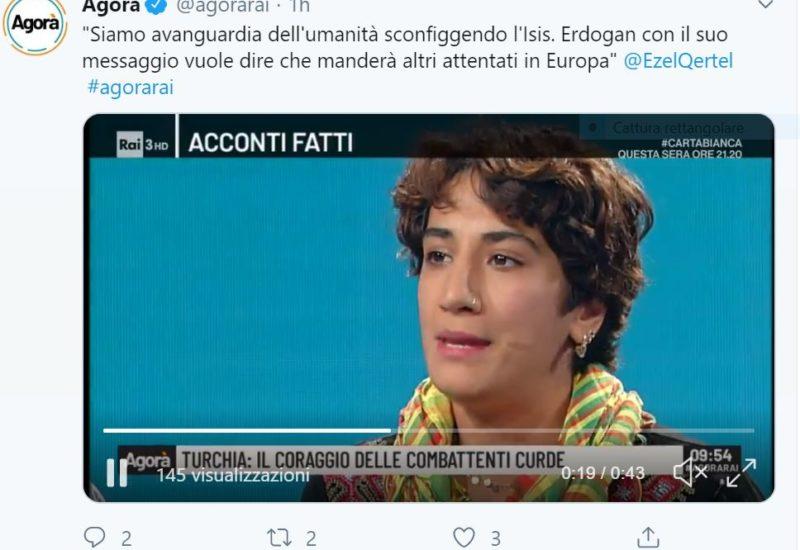 EUROPA NEL MIRINO PER EZEL QERTEL AD AGORA'