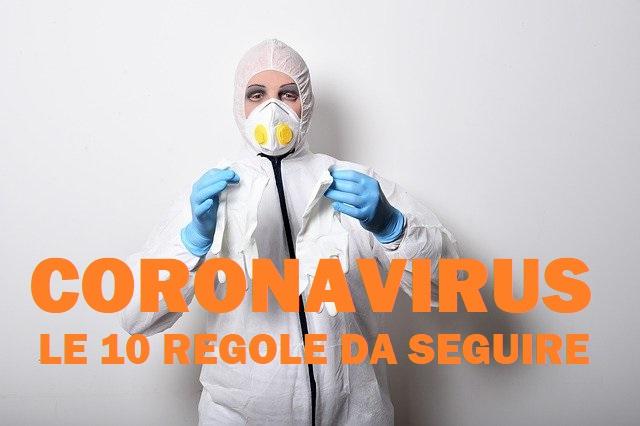 CORONAVIRUS E LE 10 SEMPLICI REGOLE