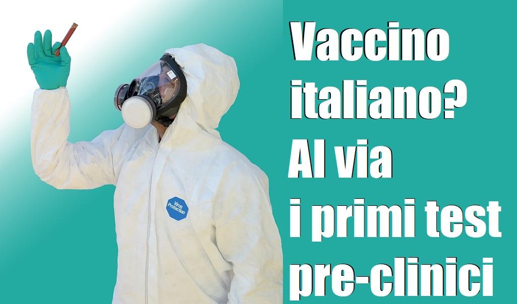 CORONAVIRUS AL VIA I TEST PRE-CLINICI SU VACCINO ITALIANO